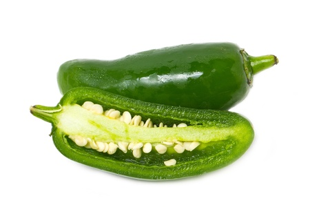 jalapeno pepper: Jalapeno Pepper isolated on white