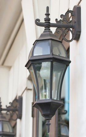 lamplight: Antique outdoor wall lamp