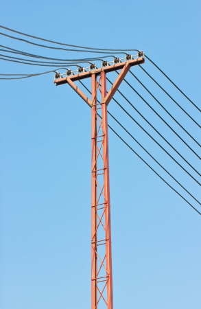 Electricity post in sky  photo