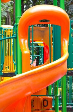 play ground: Close up of colorful playground for children  Stock Photo