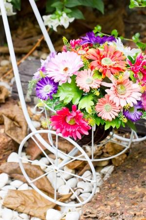 artificial flower: Close up of artificial flower decoration