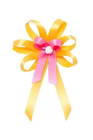 Colorful ribbon isolated on white  photo