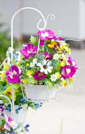 flower baskets: Decorated Artificial Flowers