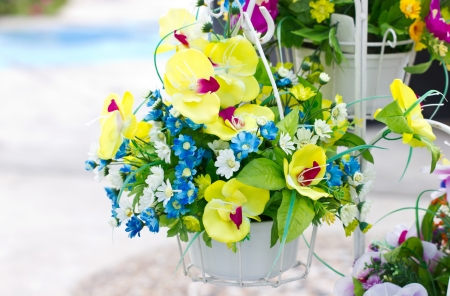 Decorated Artificial Flowers  photo