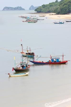 Fishing Boat in Sea in Chumphon, Thailand  photo