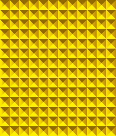 tectonic: Golden pyramid pattern  illustration