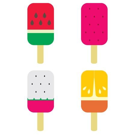 gelato stecco: Set di frutta gelato bastone