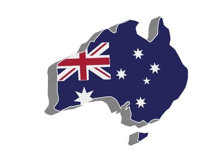 darwin: 3D flag map of Australia