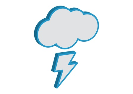 Cloud with lightning weather forecast