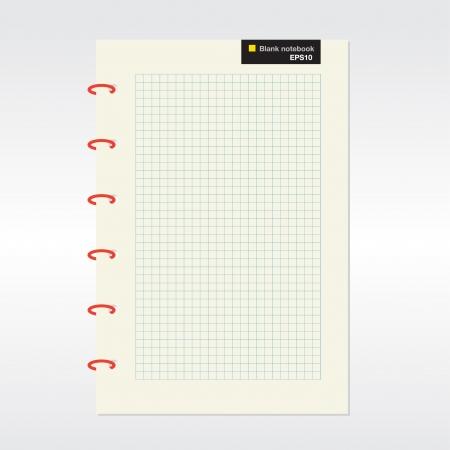 Blank notebook  Stock Vector - 21042665