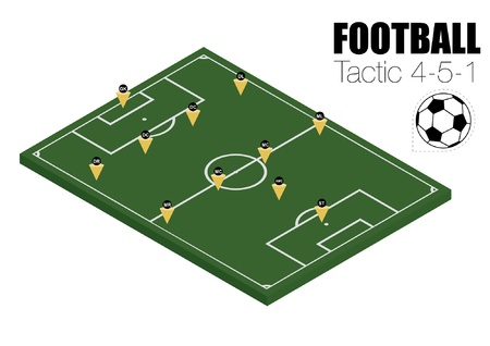 Soccer strategy formation type 4-5-1