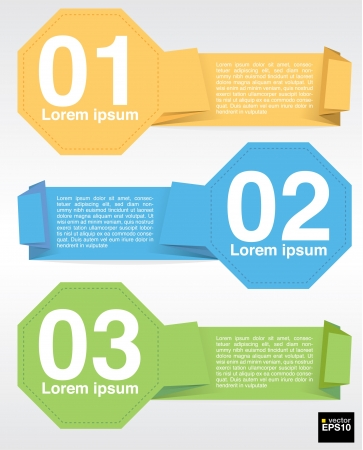 octagon: Colorful octagon banner template