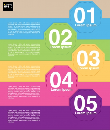 Colorful octagon banner template