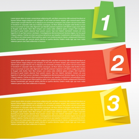 visual information: Colorful origami banner template