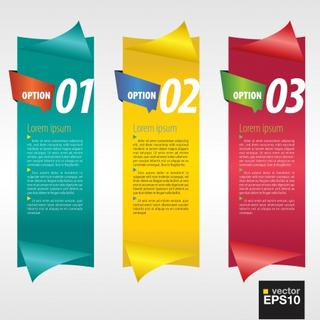 Vertical banner with number Stock Vector - 21042968