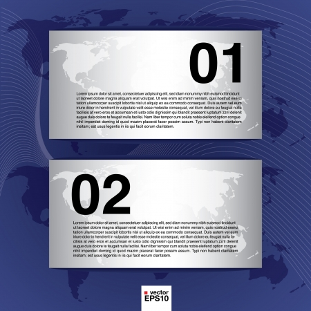 World map banner Stock Vector - 21043083