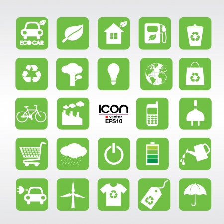 antipollution: 24 Ecology icons set