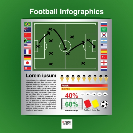 Football infographic  Stock Vector - 21222155