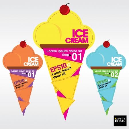 cream paper: Colorful ice cream