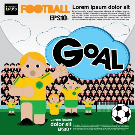 Football conceptual illustration Stock Vector - 21222176