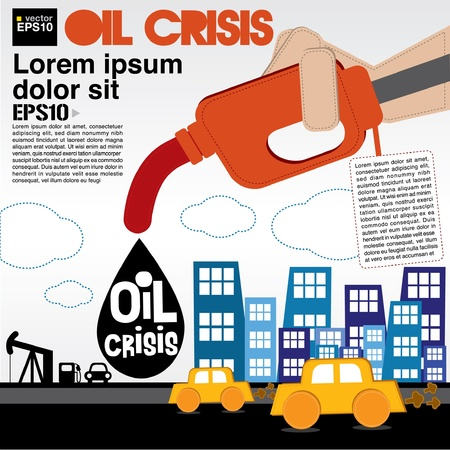 energy crisis: Oil crisis illustration concept