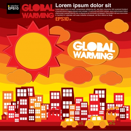 Global warming illustration  Vector