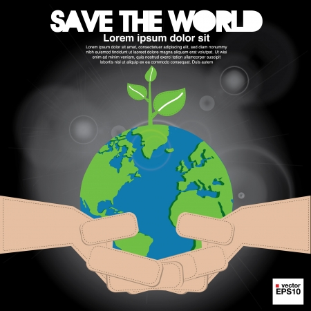 Save the world conceptual illustration  Stock Vector - 21222215