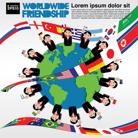 Worldwide friendship conceptual illustration  Stock Vector - 21222217