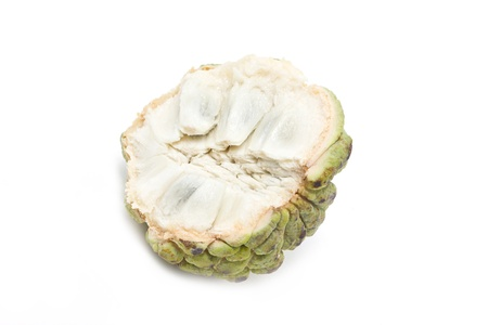 scaly custard apple: Sugar apple isolated on white