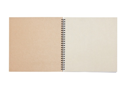 ring binder: Open notebook isolated on white  Stock Photo
