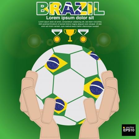 Brazil beginning of football Vector Illustration EPS10 Vector