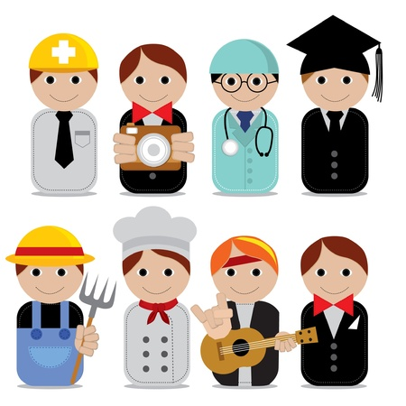 Vector illustration - set of people occupations icons EPS10