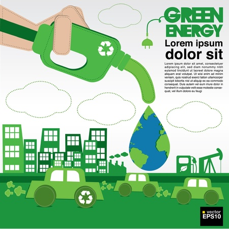 Green energy conceptual illustration vector EPS10  Vector