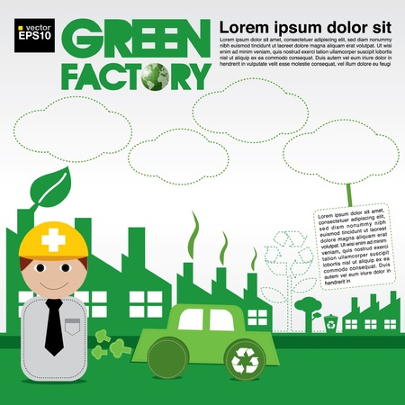Green factory conceptual illustration vector EPS10  Vector