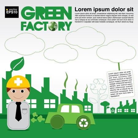 Green factory conceptual illustration vector EPS10