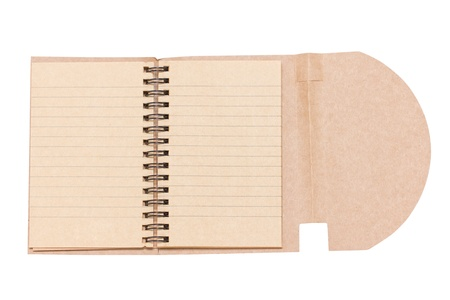 Opened Blank Notebook Isolated on White  photo