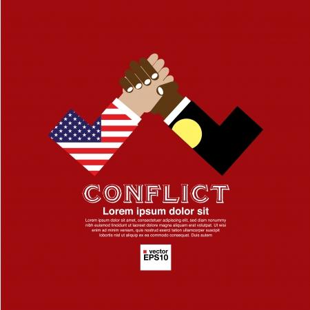 反対: 野党の抽象概念図  イラスト・ベクター素材
