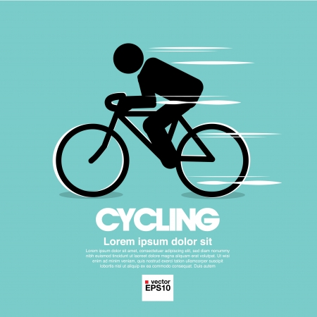 cyclist silhouette: Cycling graphic symbol   Illustration