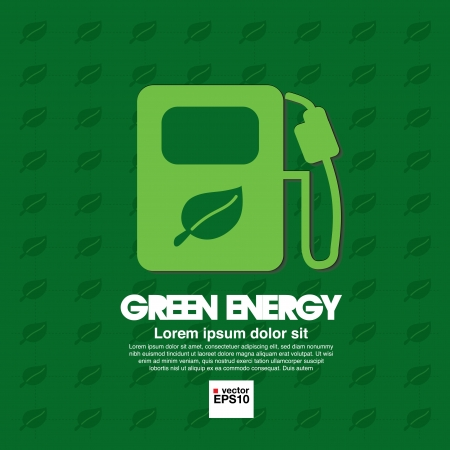 bio fuel: Green energy concept vector   Illustration
