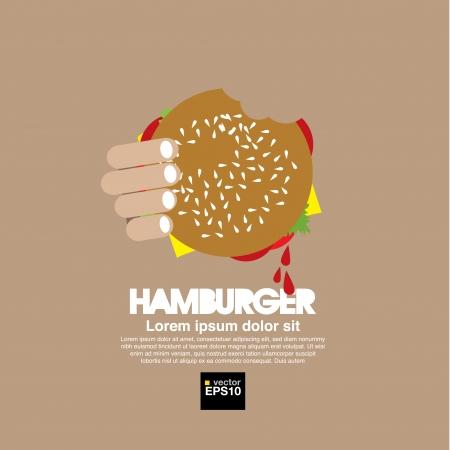ハンバーガーの図  イラスト・ベクター素材