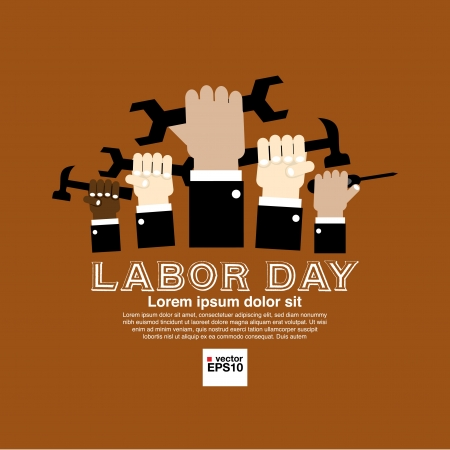 Labor day simply and clean illustration conceptual  Vectores