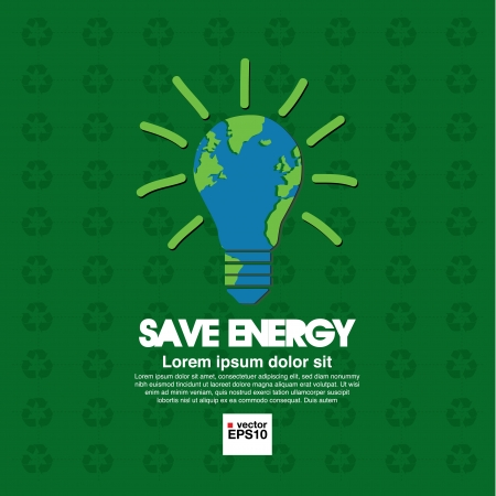 Save energy illustration conceptual  Vector