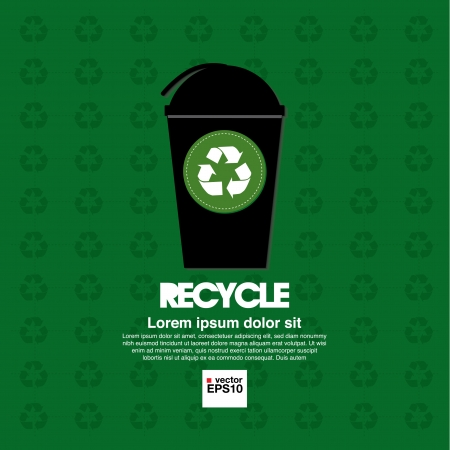wastebasket: Recycle illustration concept