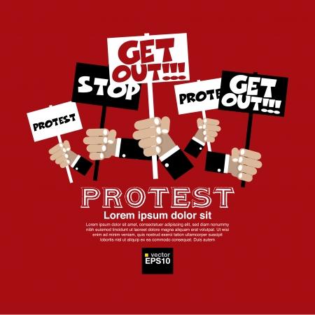 political rally: Протест иллюстрации концепции Иллюстрация