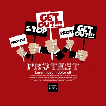 Protest Concept Illustration Vector