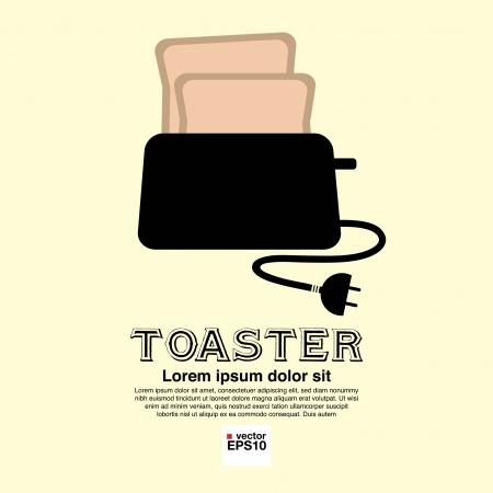 Toaster vector illustration EPS10 Illustration