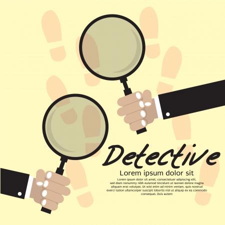 Detective Vector Illustration Concept EPS10