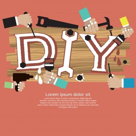 DIY Vector Illustration Concept EPS10 Illustration
