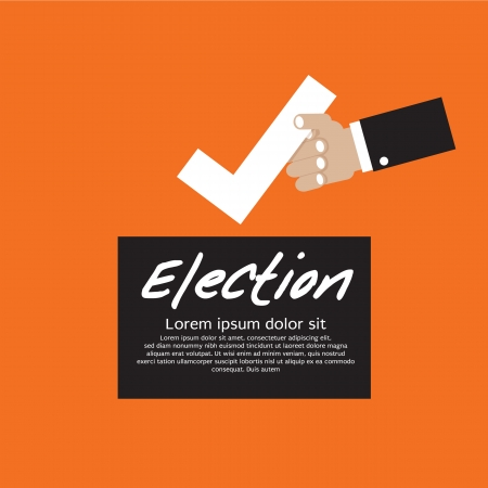 Vote For Election Vector Illustration Concept EPS10 Vector