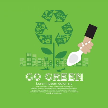 go green: Ecology Vector Illustration Concept EPS10